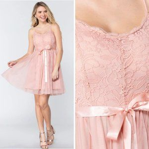 Sleeveless Floral Lace Fit and Flare Mini Dress